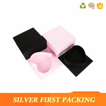 2017 New design flower cardboard gift box sweet heart shape box