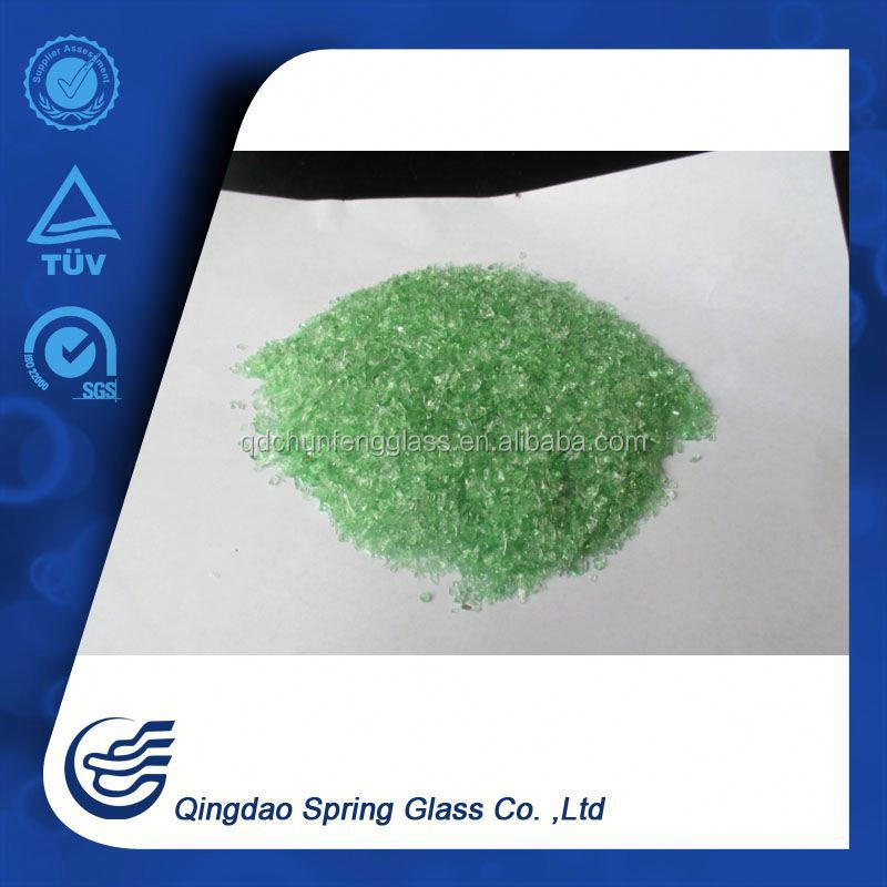 Crushed Green Glass For Landscaping Qingdao
