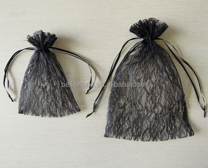 organza gift lace fabric bags wholesale