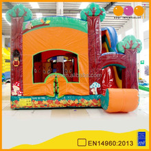 Forest inflatable amusement park/little tikes play structure with slide
