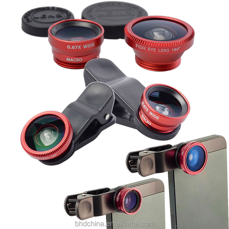2016 factory price Universal clip 3 in1 zoom telescope for mobile phone camera lens