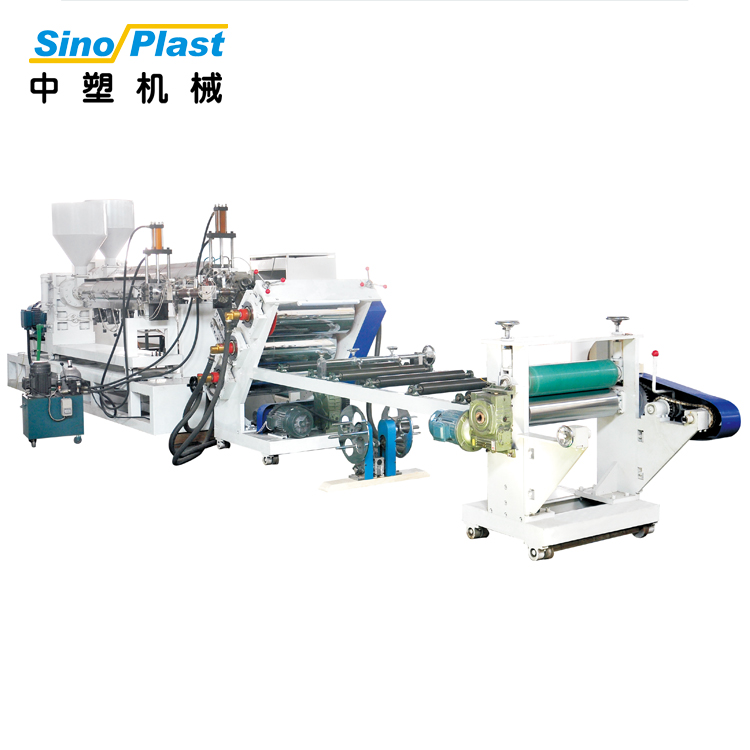 SINOPLAST 220-250kg/Hr Maximum Output 120KW PP PS Sheet Plastic Board Extruder