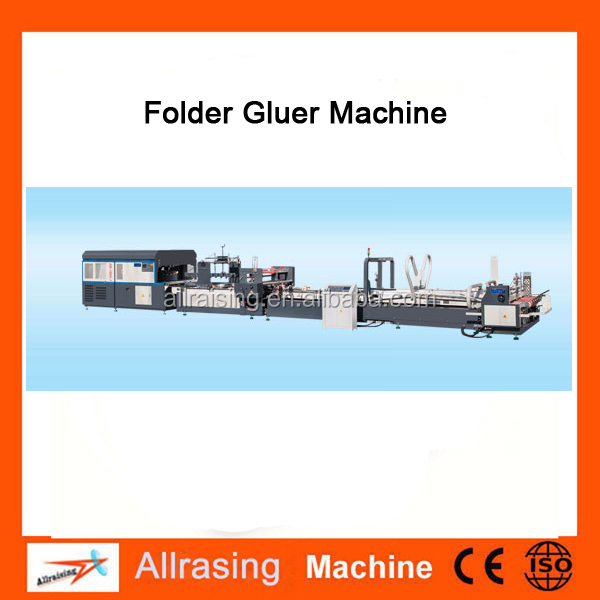 High speed 4 6 corner automatic folder gluer machine / carton box making machine