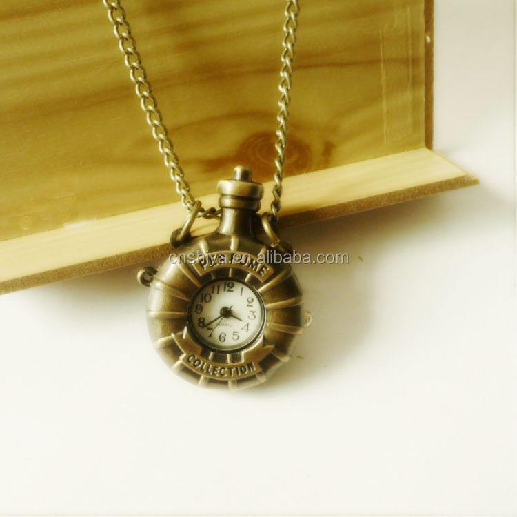 Sweater chain Nostalgic perfume bottle pocket watch necklace Retro pendant necklace