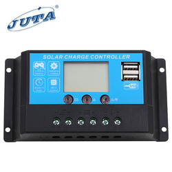 JUTA 10A 12V/24V Good Quality PWM Solar panel Charge/charger Controller/regulator With LED Light