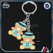 best quality metal teddy bear keychain
