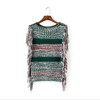 Monroo Colorful Striped Women Fashion Crochet