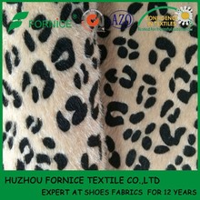 China manufacturer PU Horse Hair Fabric For shoe upper material