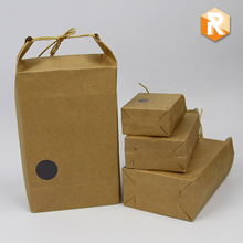 Kraft paper packaging for snack food rice packing bag