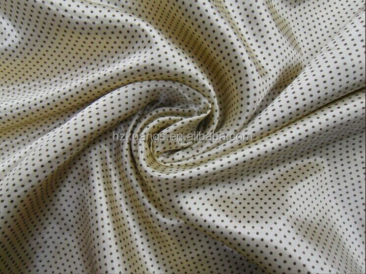 Satin Fabric Twisting Polyester Spandex Polka-dot Printed Satin Fabric
