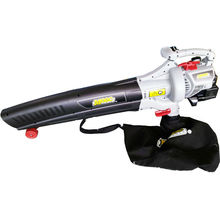Petrol leaf blower with suction function