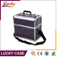 Large Professional Makeup Cosmetic Train Storage Case with Key lock