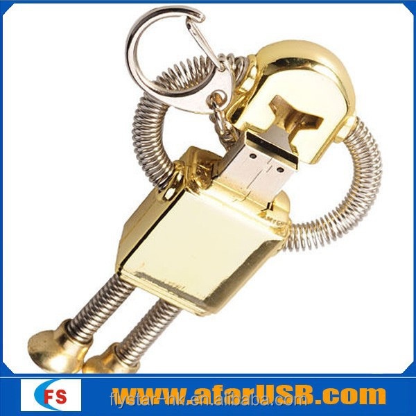 2015 NEW COOL ROBOT KEYCHAIN 4GB USB Flash Drive, Novelty USB Flash Drive/Memory Stick/Pen/Gift/Present