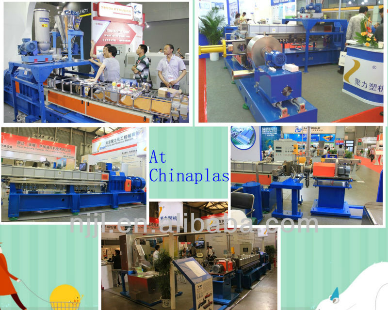 SHJ-75 underwater pelletizing/cutting/granulating twin screw extruder for CACO3 masterbatch/EVA/PIB/EPDM/TPU/TPE