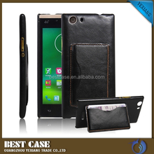 Hot new products pouch leather case for wiko ridge fab 4g stand cover