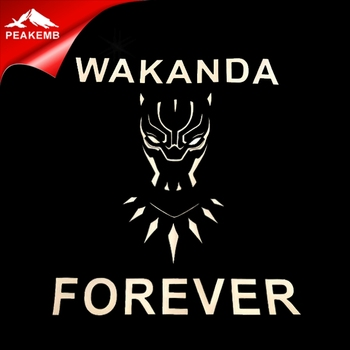 Customize Black Panther Pu Vinyl transfer hotfix iron on Wakanda design for shirts