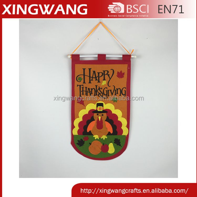 2016 best price felt wall hanger thanks giving day thanks giving decorations with turkey pattern