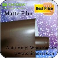 Brown Matte Vinyl Wrap With Air Free Bubbles For Car Exterior,Flexible PVC