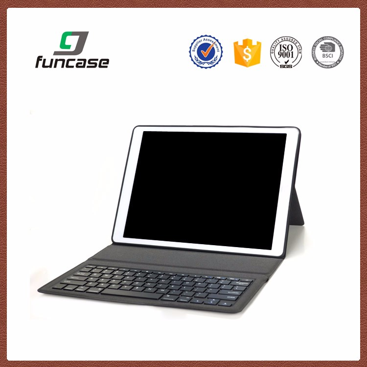 New style 9.7 tablet pc leather case bluetooth keyboard for ipad pro 9.7 inch