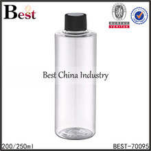 200ml 250ml cylinder clear PET disposable plastic bottle drinking water