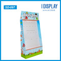 corrugated Cardboard Display Rack with hooks For toys