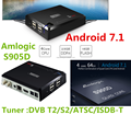 New Coming !!! Android 7.1 tv box Amlogic S905D Hybrid DVB C