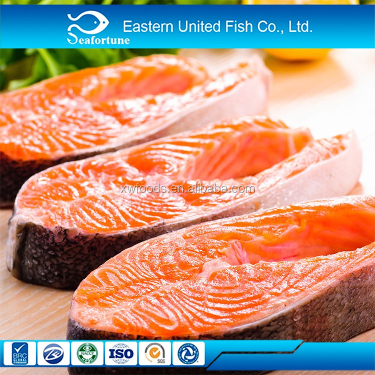 China Best Seafood High Quality Frozen Chum Salmon Steak