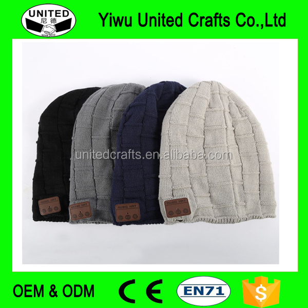 Winter Warm Wool Soft Beanie Hat Wireless Bluetooth Smart Cap Headset Headphone Speaker Mic Bluetooth Hat