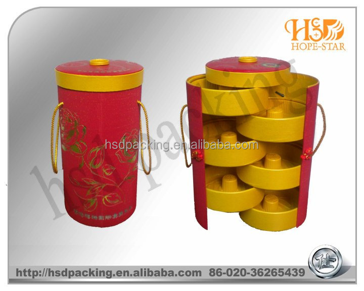 Custom Red yellow Chinese paper tea packaging box, tea tin box, box tea