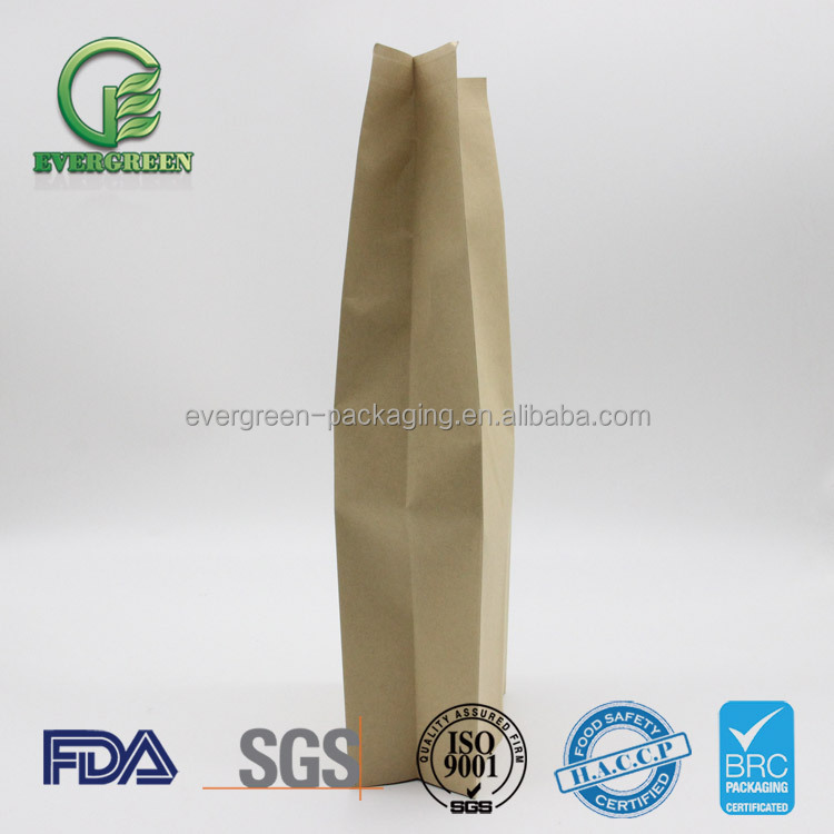 Pe laminated kraft paper stand up pouches