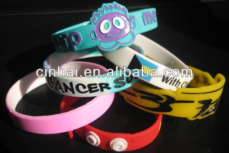 manufacture any of custom design silicone wristbands for nike