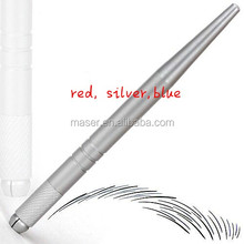 silver aluminum cheap HOT SALE microblading pen handpiece/permanent makeup manual tool/hot sale microblade handle