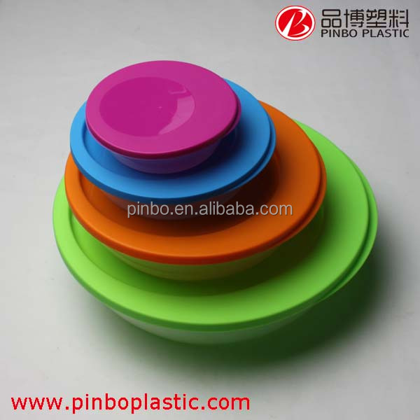 2015 New design Plastic Locking plastic food storage container set,4 color food delivery containers