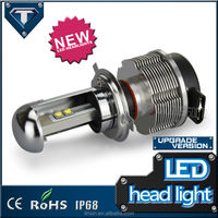 Latest D&R 12v 24v 40w h4 car led headlight for truck VW BMW POLO GOLF with CE ROHS IP68