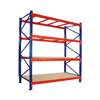 China Light Duty Goods Shelf Easy Assembled Storage Goods Steel Rack Steel 4 Tiers Garage Luggage rack