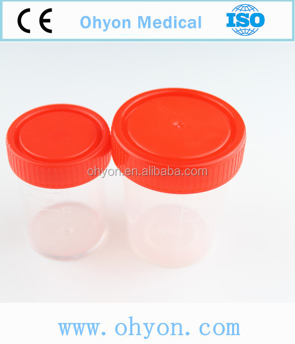 Disposable plastic containers for chemical