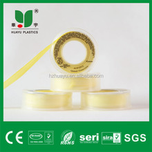 hangzhou clear yellow tape 100% ptfe thread sealing tape clear plastic spools