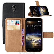 Wallet Flip Pu Leather Stand Case Cover For Vodafone Smart 4 Power