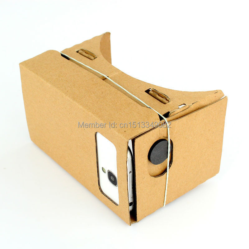 "ULTRA CLEAR Diy Google Cardboard Quality 3D VR Virtual Reality Glasses for 5.0"" Screen"