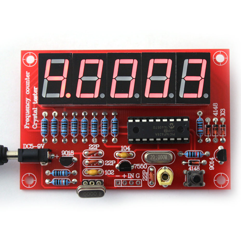 50MHz Crystal Oscillator Frequency Counter Meter Tester DIY Kit 5 Digits Resolution
