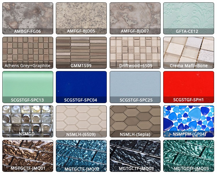 Shanghai Gap 2mm Square Mix flower pattern marble mosaic tile