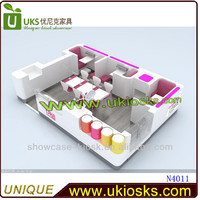 2014 Fashion new design beauty nail kiosk, manicure kiosk design for sale