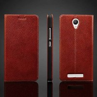 luxury leather stand folio phone case cover for xiaomi redmi note 2