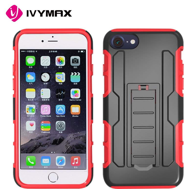 Fastest selling case wholesale shockproof 3 in 1 hybrid holster clip case for apple iphone 7 mobile phone accessories
