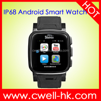 Hot Sale 1.54 Inch Snopow W1S Stainless Metal Body IP68 Waterproof Android Hand Watch Mobile Phone