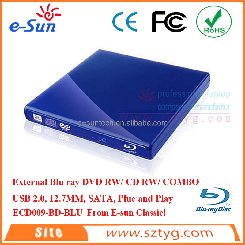 USB2.0 External Slim Dvd Writer With Multiple Functions combo/dvdrw/dvdrom/cdrw