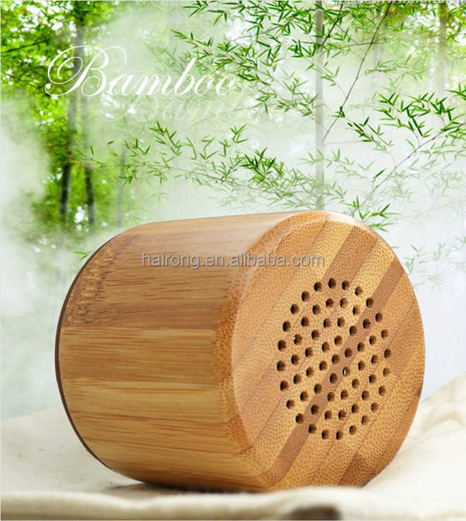 2017 new gadgets bamboo wooden portable mini wireless <strong>bluetooth</strong> speaker