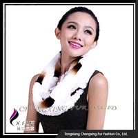 CX-S-155N Ladies Rex Rabbit Fur Scarf , Fashion Promotional Scarf