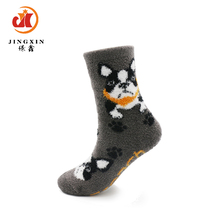 Winter customized children cozy cartoon tube terry socks
