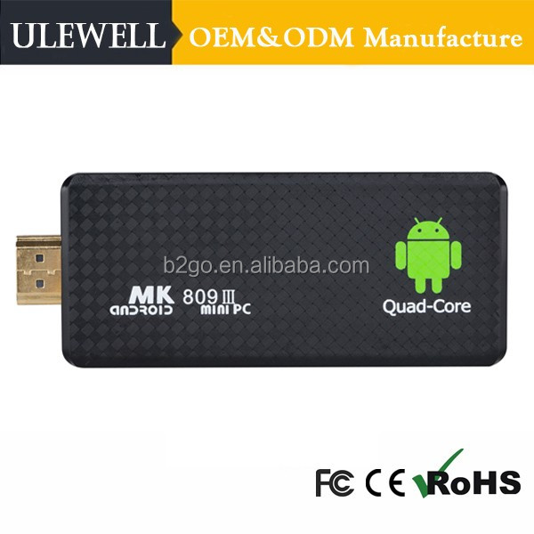 Mk809Iii Mk809Iv Rk3188 Quad Core 2Gb 8Gb Full Hd 1080P Porn Video Free Real Player Mini Google Android 4.4 Smart Tv Dongle